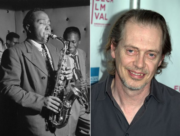 Photos of Charlie Parker and Steve Buscemi, for coolness comparison (click to embiggen)